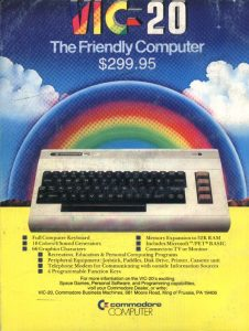 Friendly computer - Publicité Commodore VIC-20