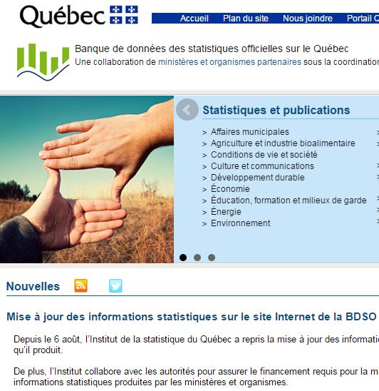 BDSO - Banque de données des statistiques officielles sur le Québec