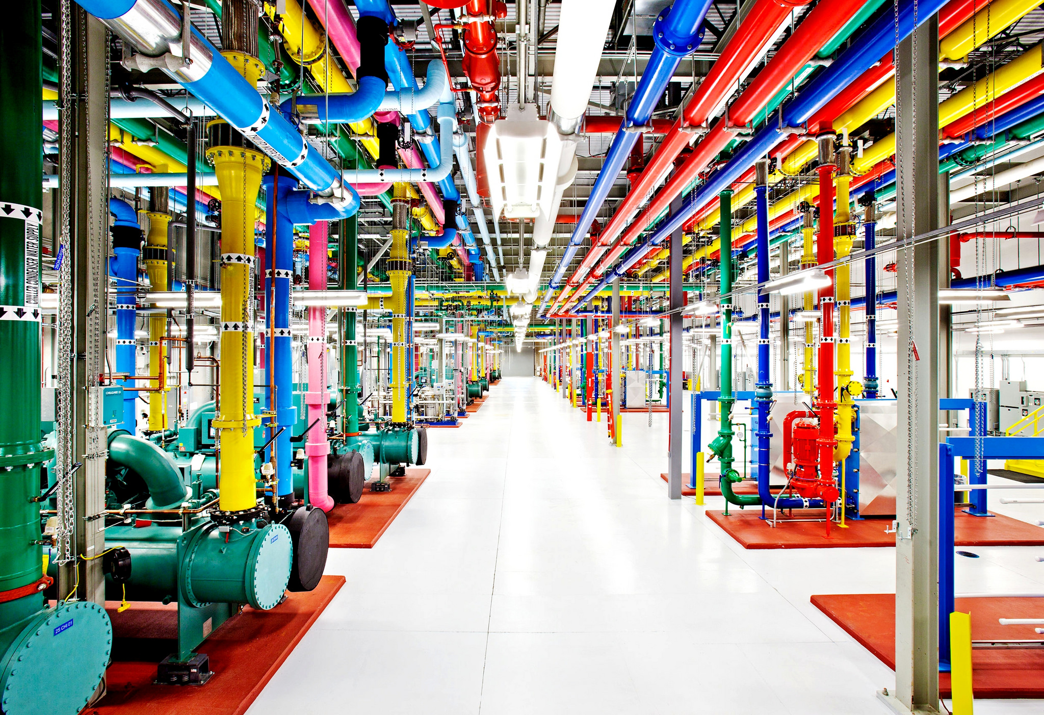 Google Pipes Datacenter, par Jorge Jorquera