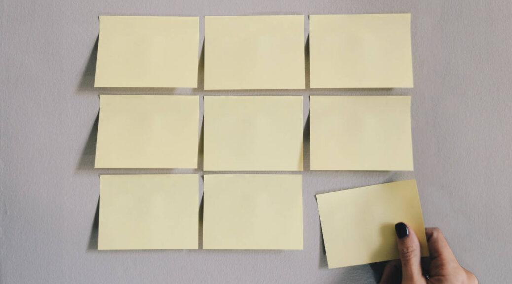 Mur de notes stratégiques